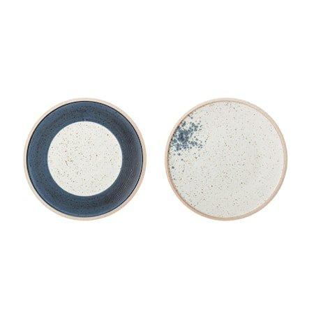 Hazel Plate, Multi-color, Stoneware
