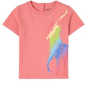 Ralph Lauren Logo T-shirt Rosa 6 mån