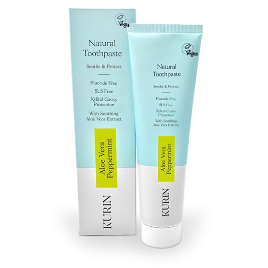 Kurin Natural Aloe Vera Toothpaste Fluoride Free - Peppermint, 100 ml