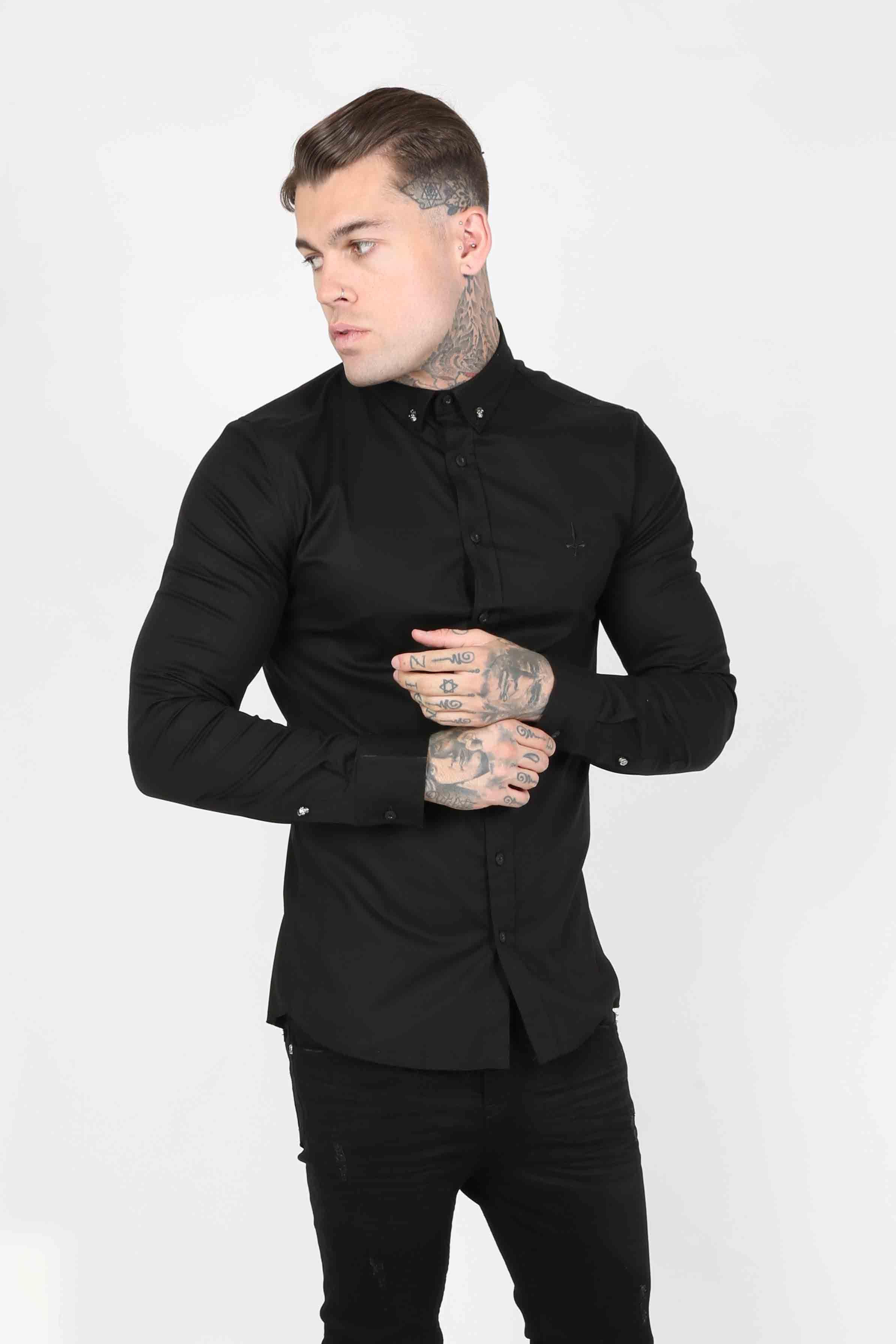 Smart Longsleeve Men's Shirt - Black, Small