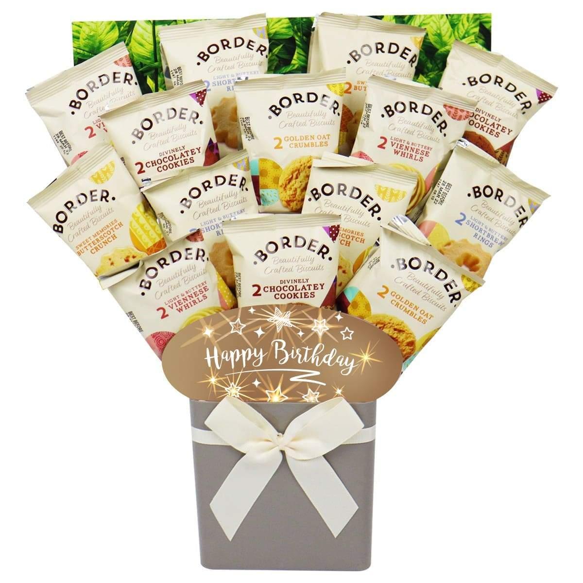 The Happy Birthday Border Biscuit Bouquet