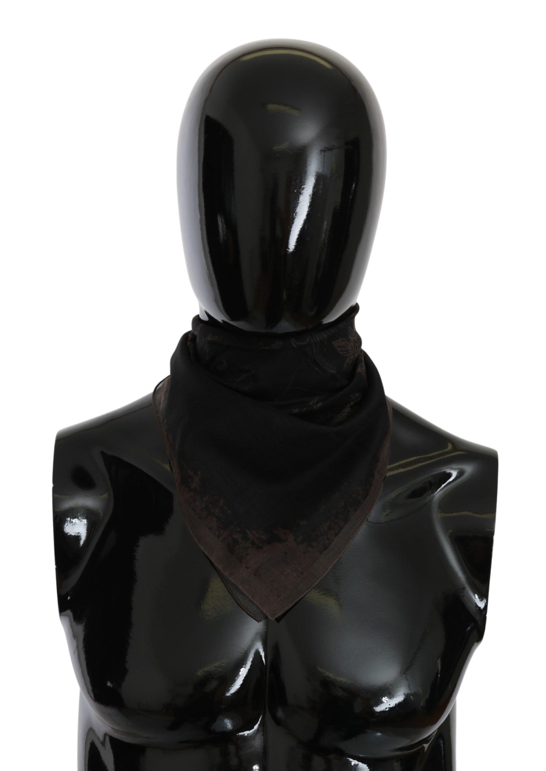 John Galliano Women's Bandana Cotton Scarf Black MS1631
