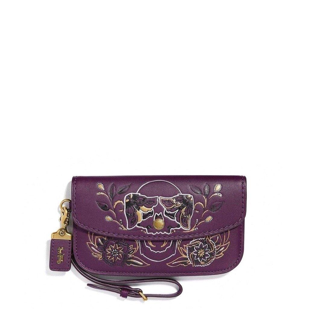 Coach Women's Clutch Bag Various Colours 37370 - violet NOSIZE