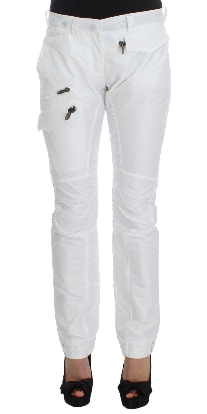 Ermanno Scervino Women's Nylon Padded Slim Fit Trouser White SIG30406 - IT42 M