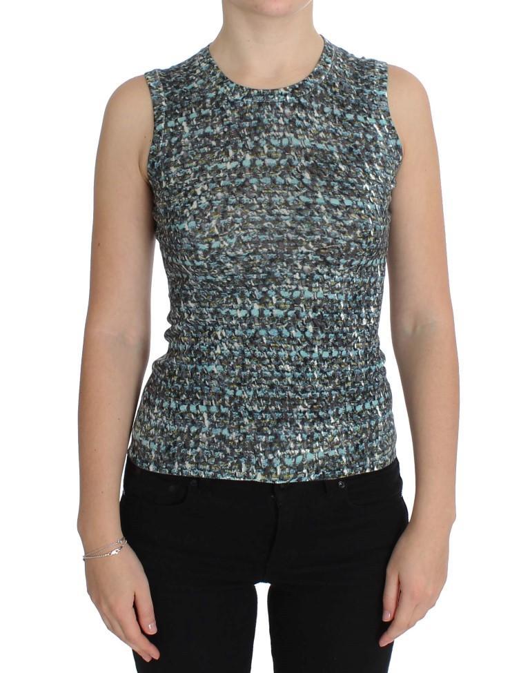 Dolce & Gabbana Women's Vest Pullover Tops Blue SIG20569 - IT46|XL