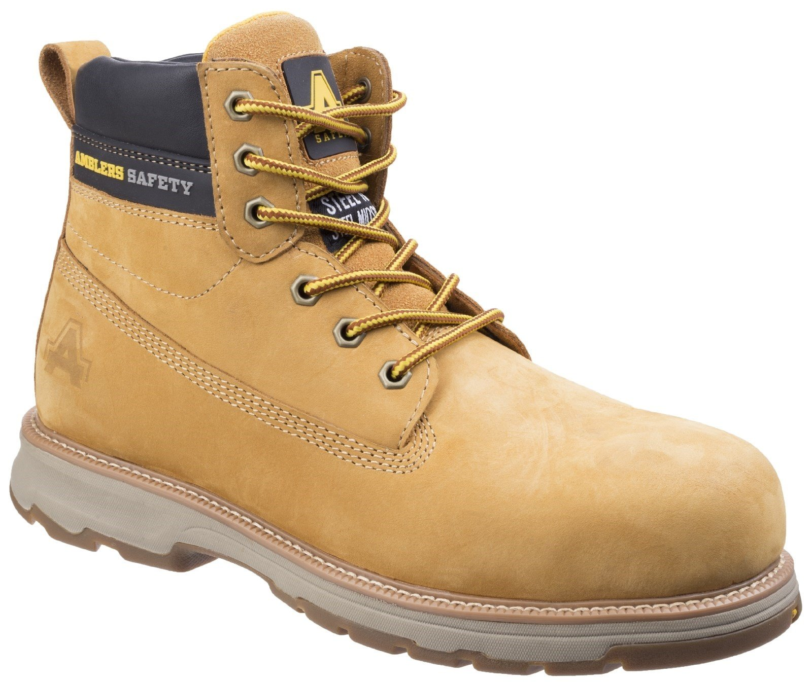 Amblers Unisex Safety Lightweight Full Grain Leather Boot Various Colours 25506 - Honey 6