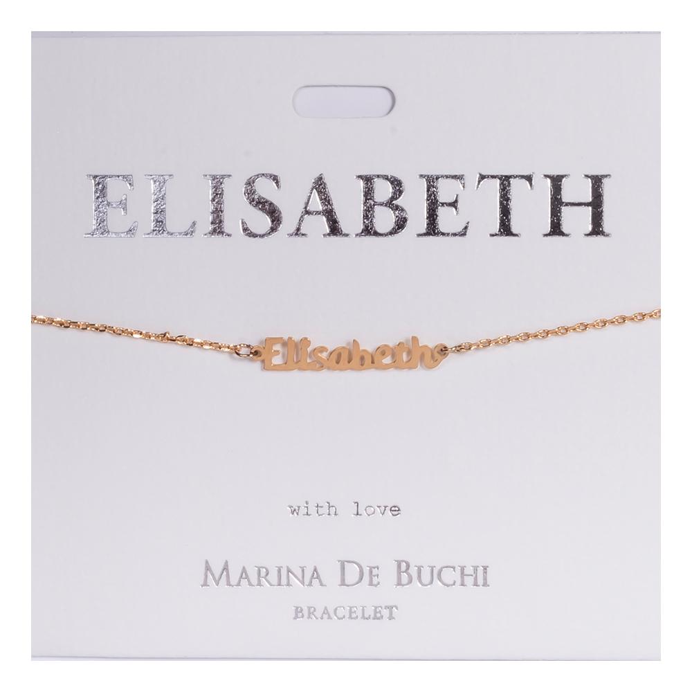 Namnarmband Guld - Elisabeth