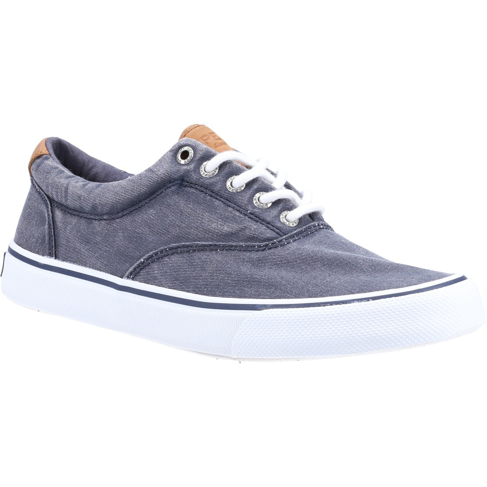 Sperry Men's Striper II CVO Canvas Trainers Various Colours 32397 - Salt Washed Navy 8