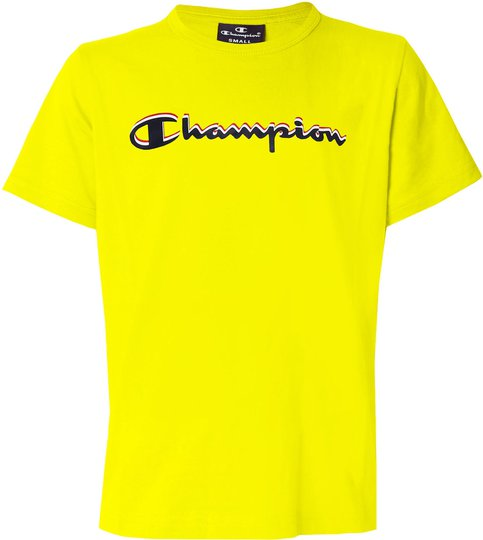 Champion Kids Crewneck T-Shirt, Blazing Yellow XS