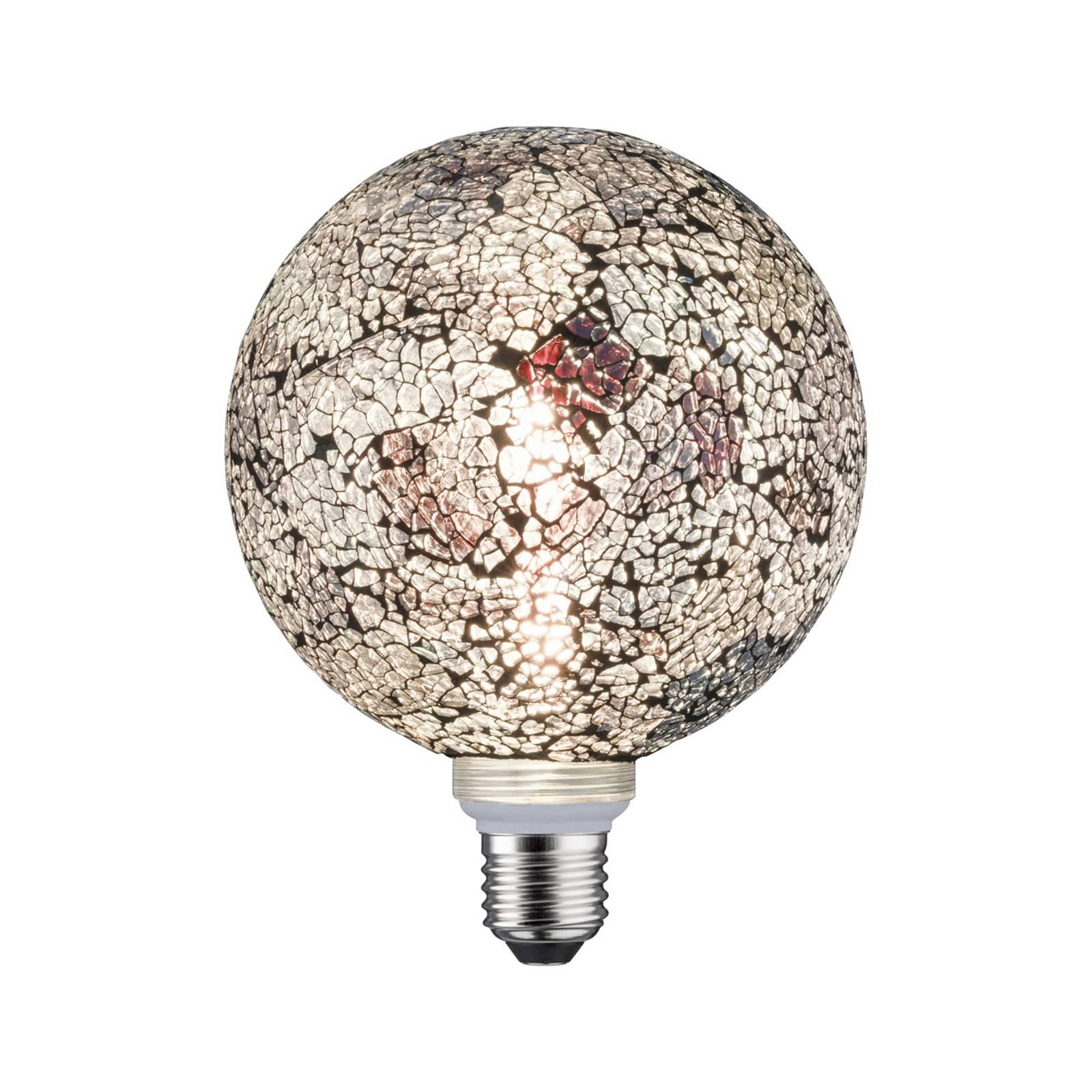 Paulmann E27 LED-Globe 5W Miracle Mosaic musta