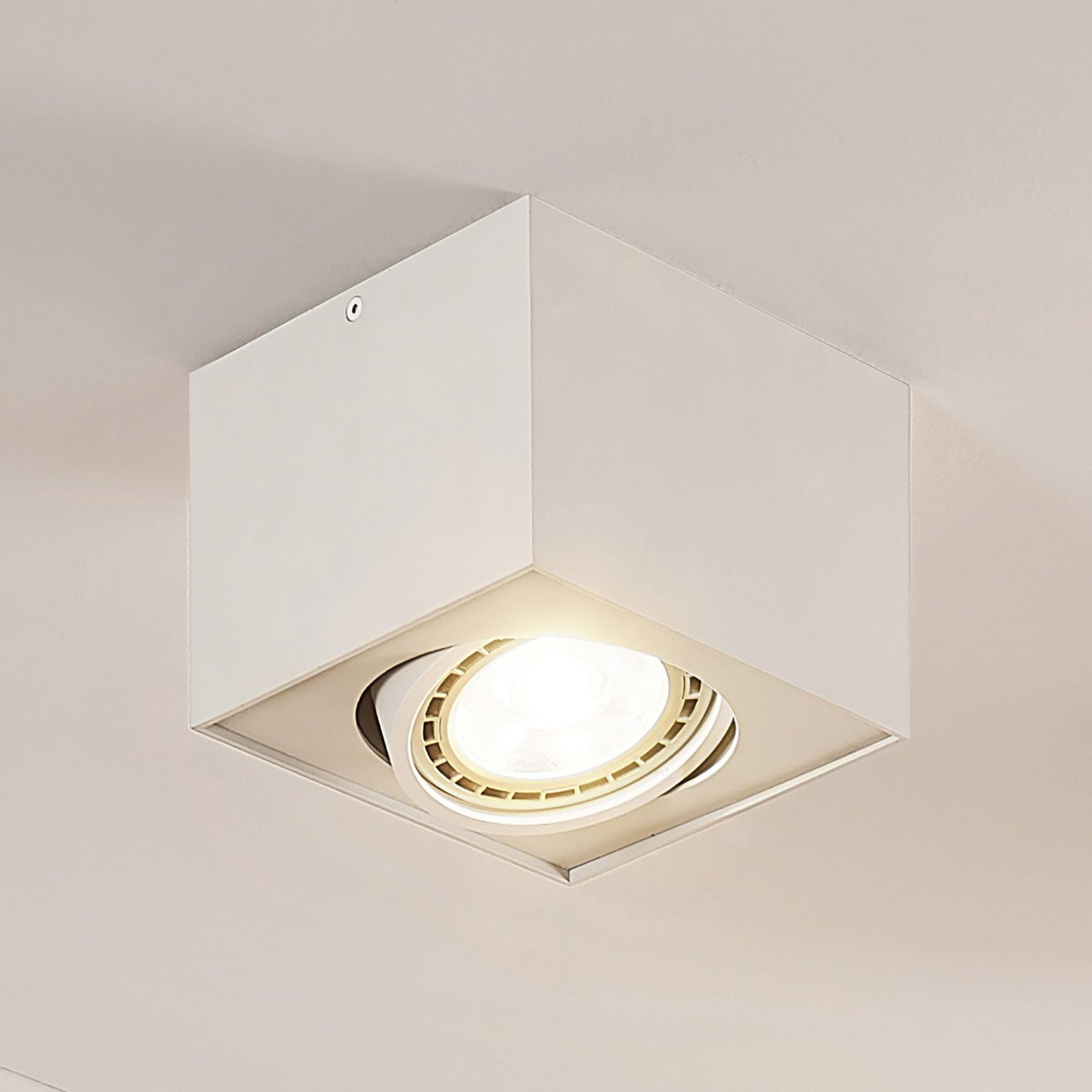 Arccio Dwight LED-takspot i hvit, 1 lyskilde