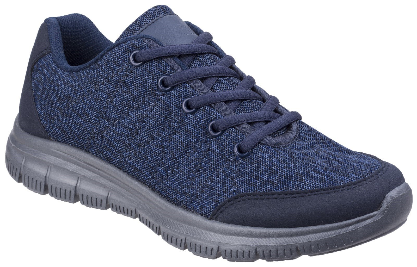 Fleet & Foster Women's Elanor Lace Up Trainer Various Colours 27155-45626 - Navy 3