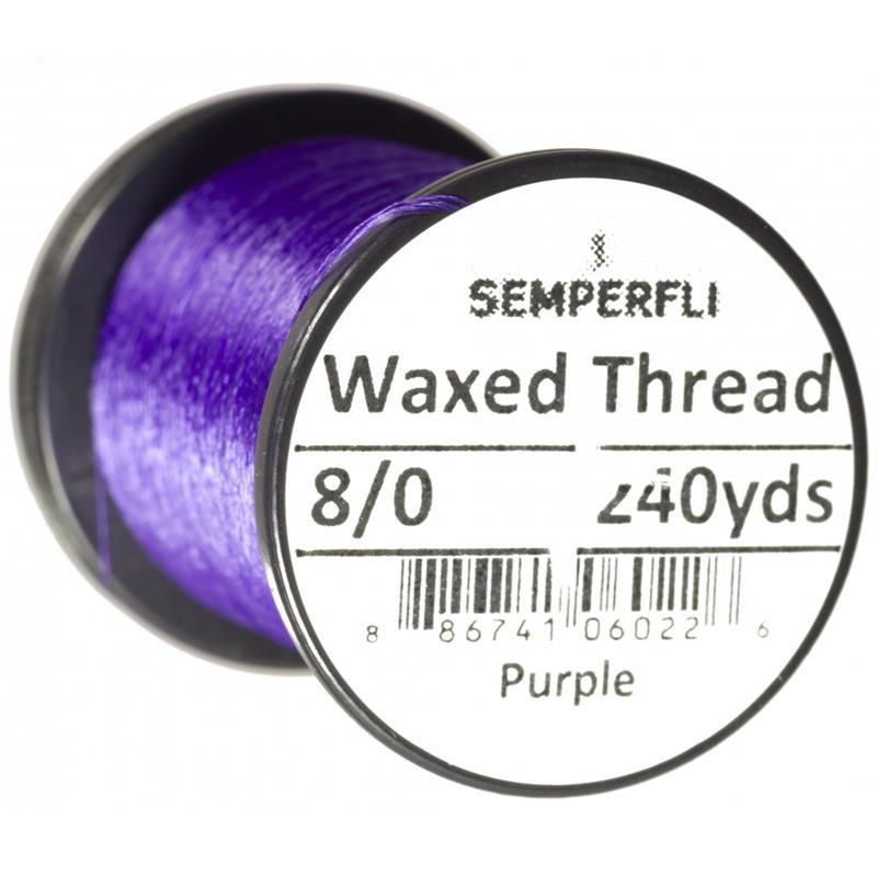 Semperfli Classic Waxed Thread Purple 8/0