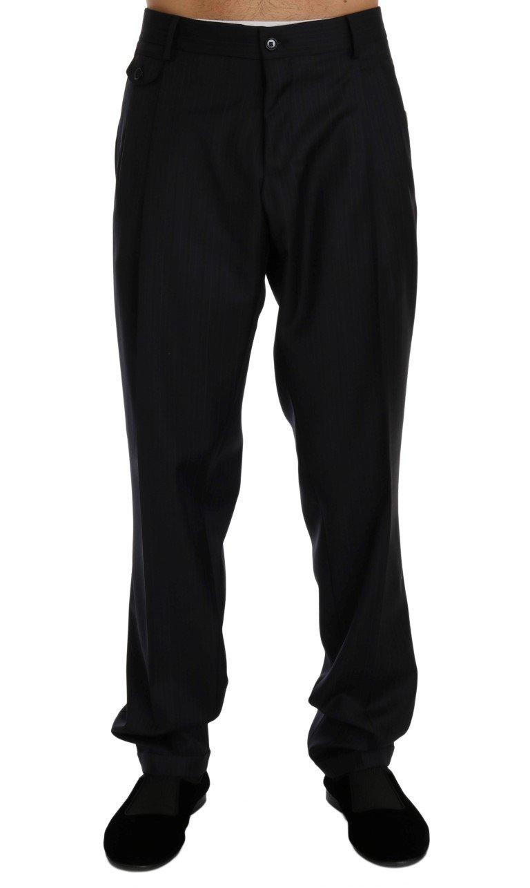 Dolce & Gabbana Men's Striped Cotton Dress Formal Trouser Blue PAN60359 - IT52 | XL