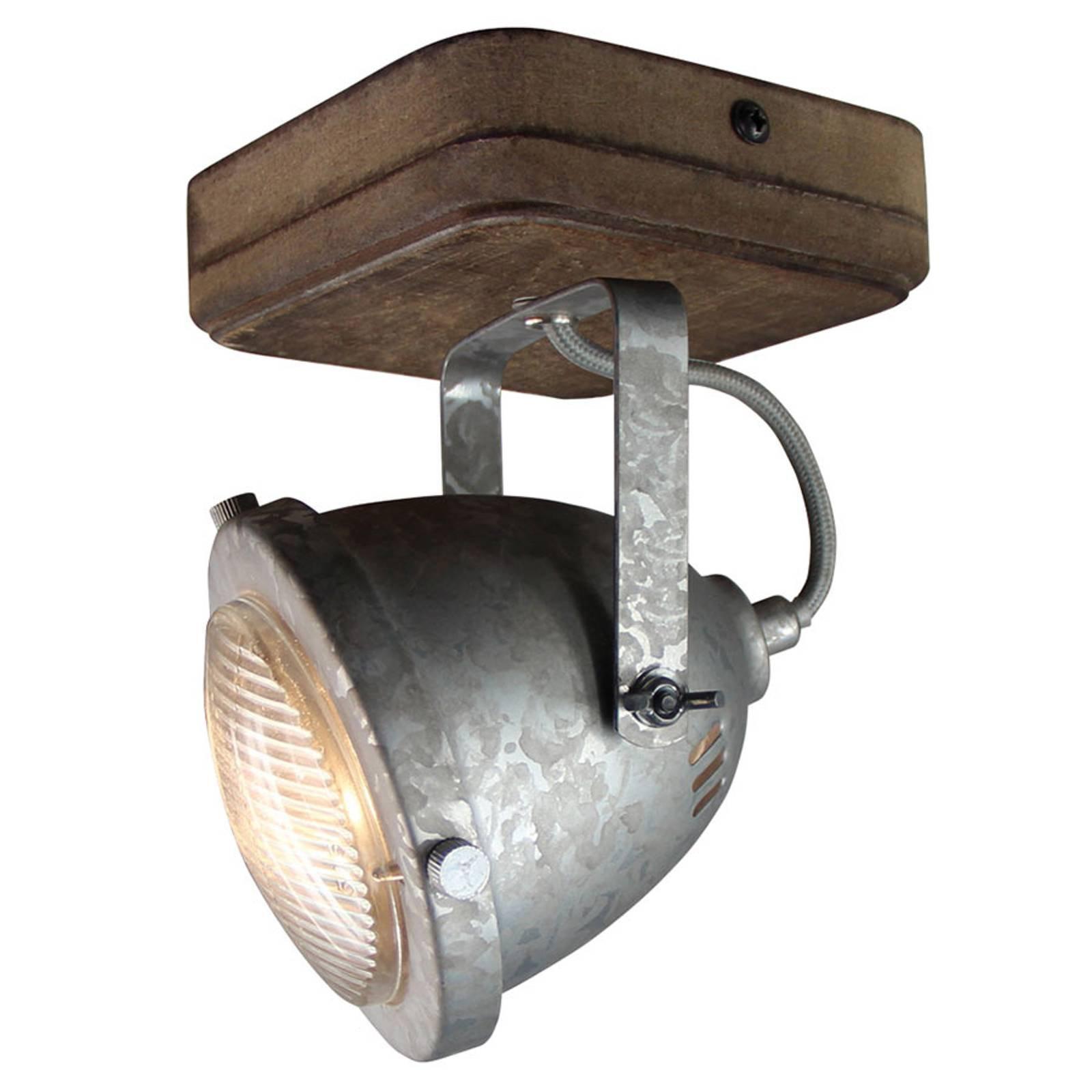 Taklampe Woody, galvanisert, 1-lyskilder