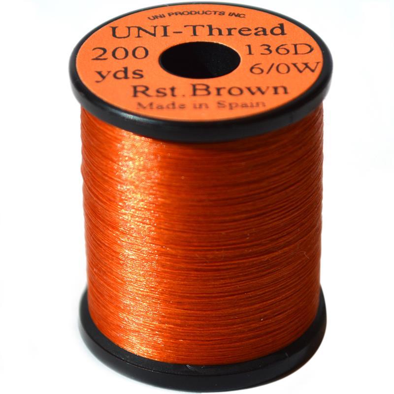 UNI bindetråd 6/0 - Rusty Brown 200y