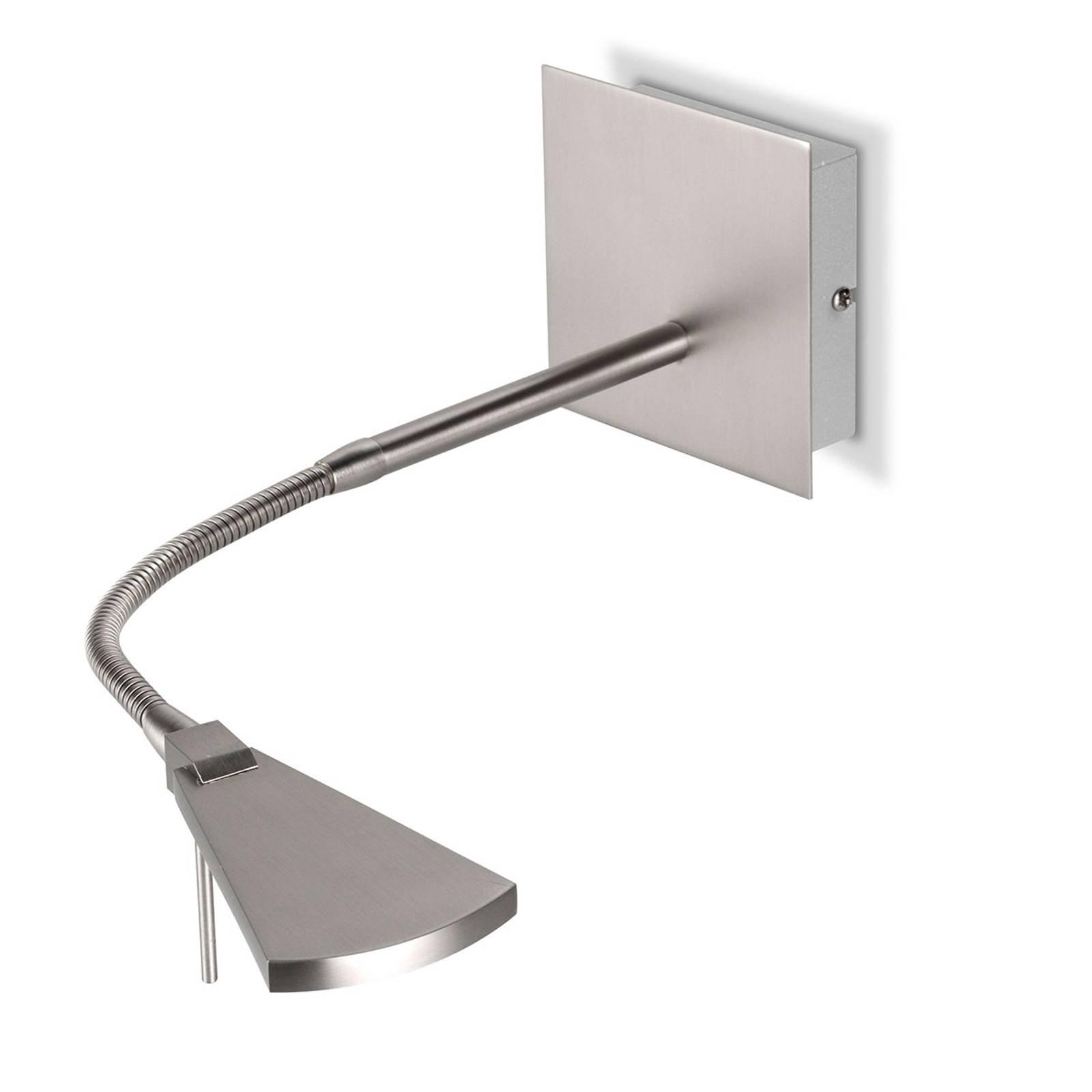 Fleksibel LED-vegglampe Nec, matt nikkel