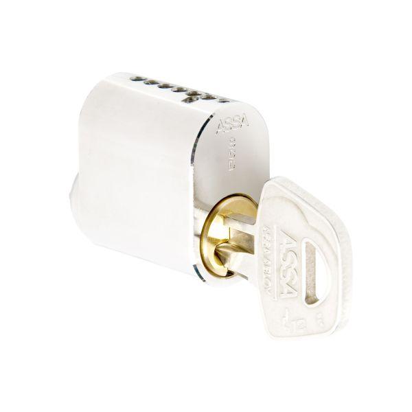 ASSA 1201 Låsesylinder med nøkler, forniklet