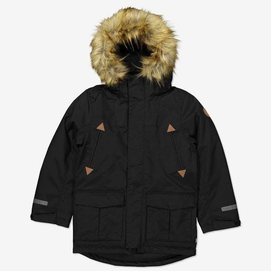 Vinterparkas vattert svart
