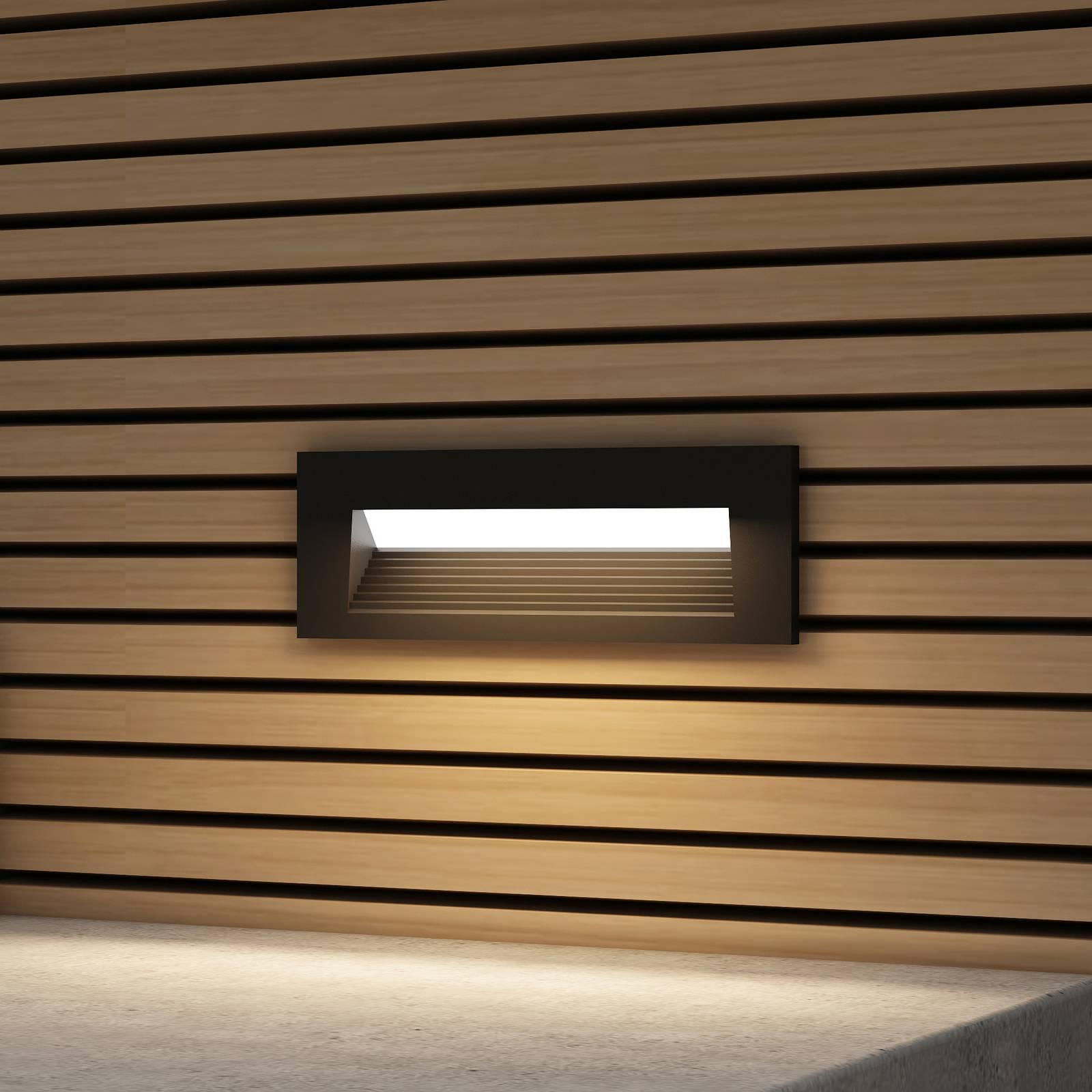 Arcchio Javis -LED-uppovalaisin, uurrettu, musta