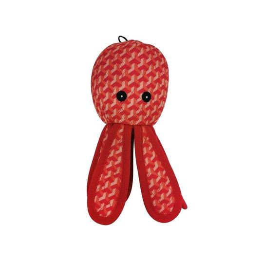 Bark-a-Boo Tough Toys Bläckfisk Röd