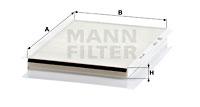 Raitisilmasuodatin MANN-FILTER CU 2839
