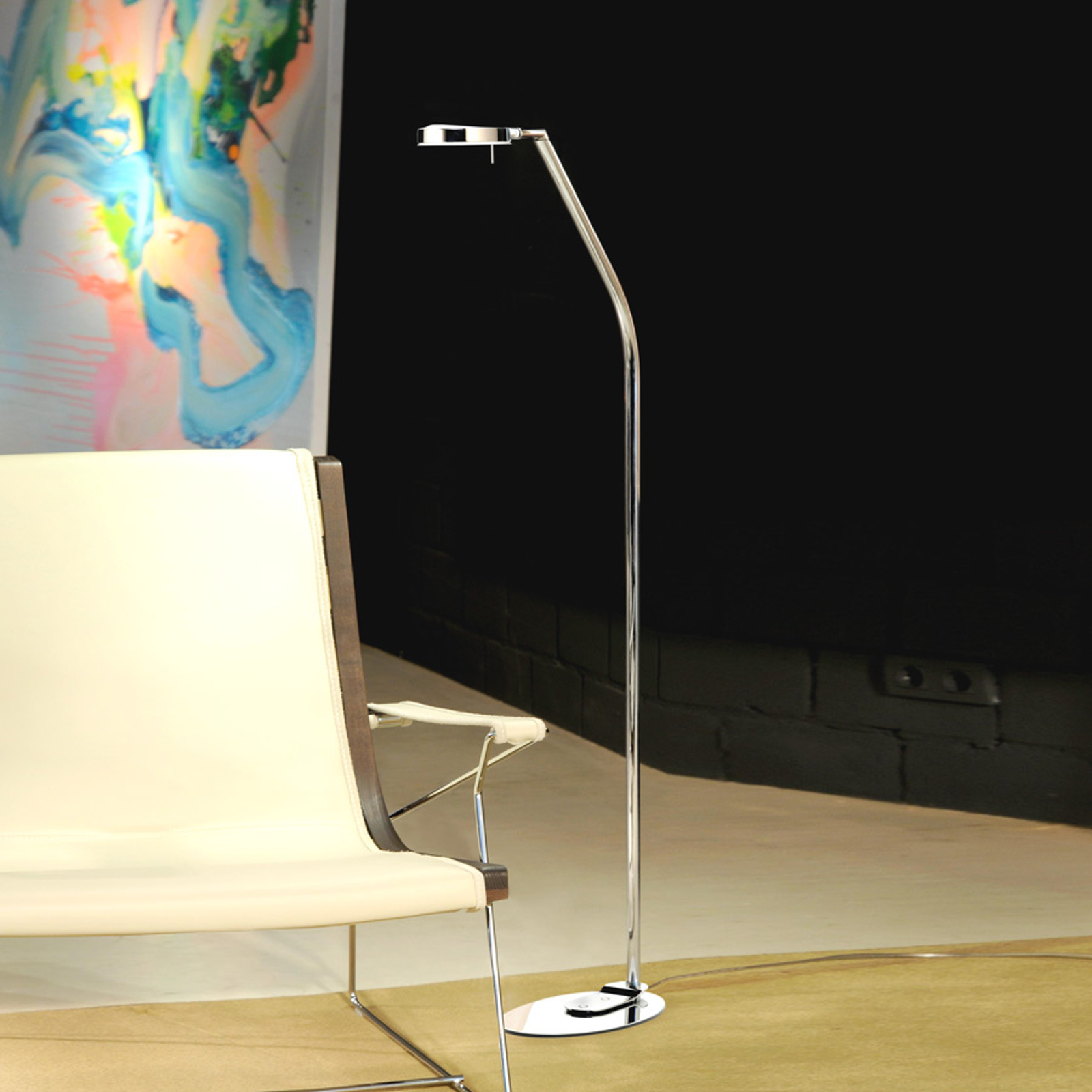 Moderni 3-LED-lattiavalaisin, 1 lamppu, 124,3 cm
