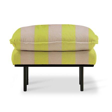 Retro Sofa Skammel Striped yellow/Nude
