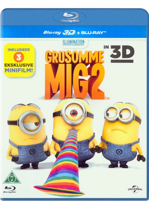 Despicable Me 2/Grusomme Mig 2 (3D Blu-Ray)