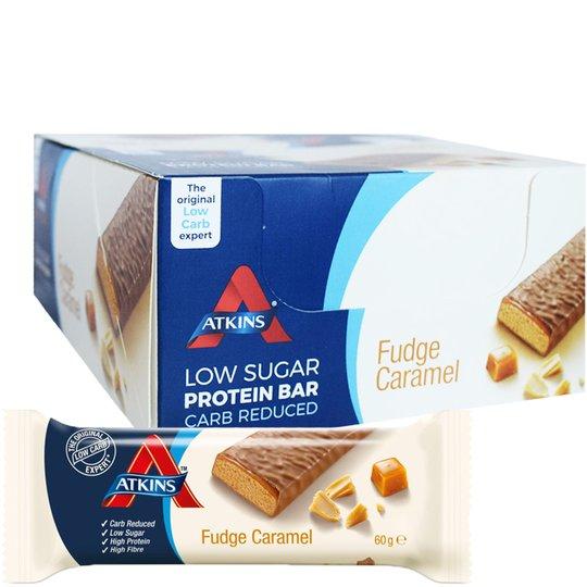 """Laatikollinen Proteiinipatukoita """"Fudge Caramel"""" 16 x 60g - 50% alennus"""