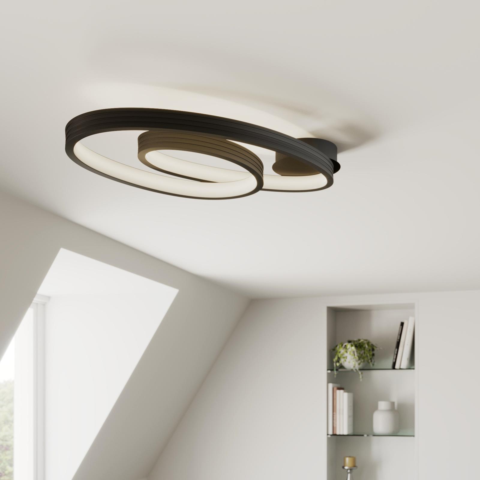 Lucande Bronwyn -LED-kattovalaisin, 72,5 cm