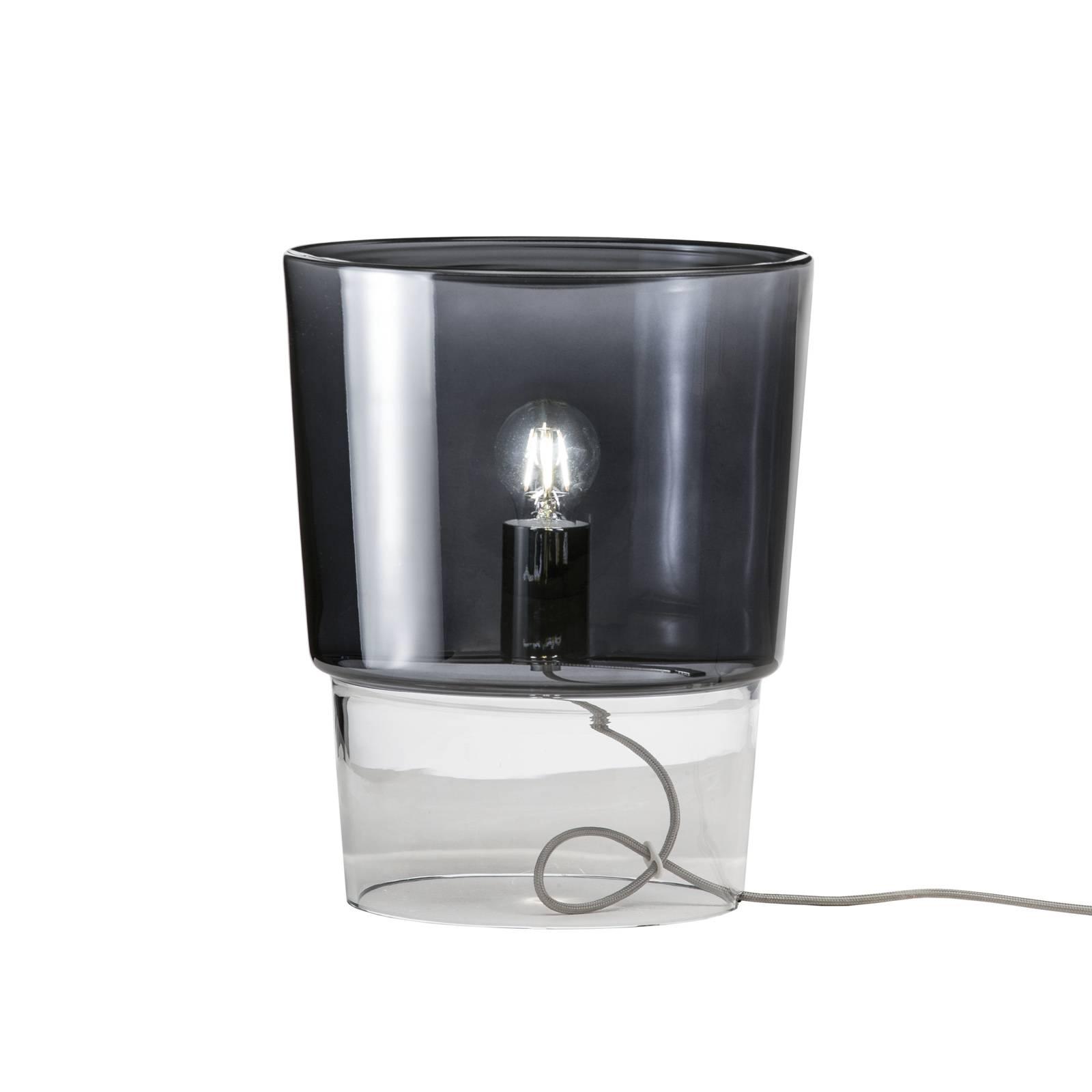 Prandina Vestale T3-pöytälamppu savunharmaa/kirkas
