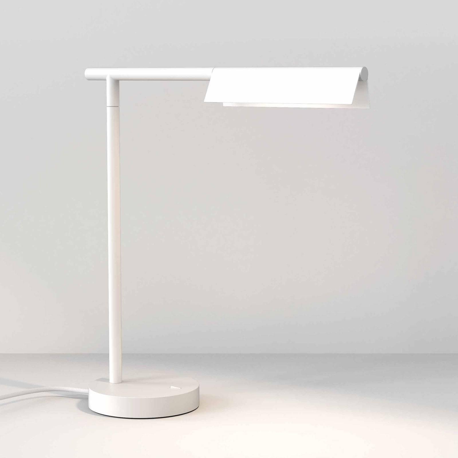 Astro Fold -LED-pöytälamppu, mattavalkoinen