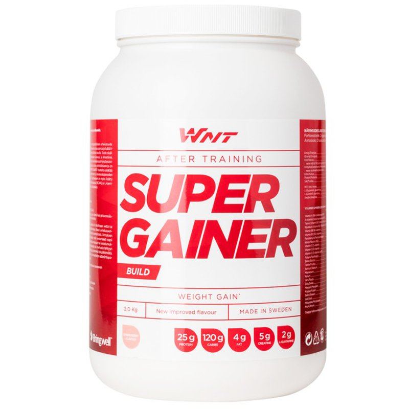 """Proteiinijauhe """"Super Gainer"""" Mansikka 2kg - 33% alennus"""