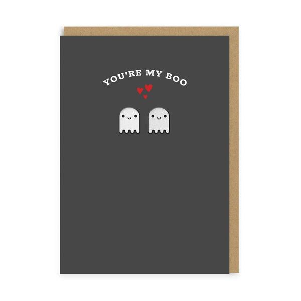 Ghosts You're My Boo Woven Patch Card