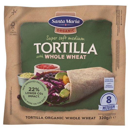 Luomu Tortillaleivät Whole Wheat - 23% alennus