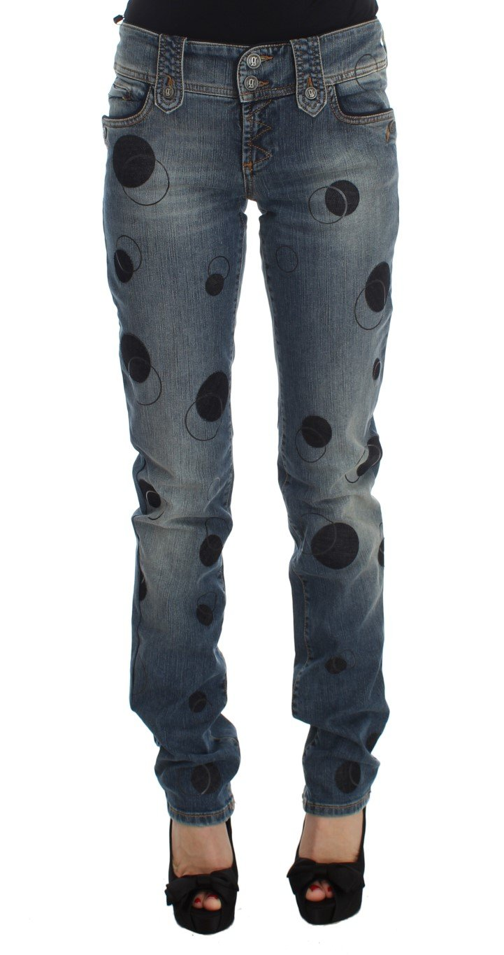John Galliano Women's Cotton Blend Slim Fit Bootcut Jeans Blue SIG30172 - W26