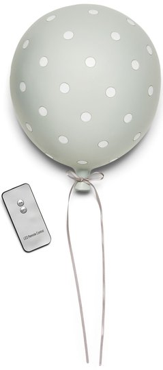 Lilou Lilou Vegglampe Ballong Prikker, Grey/White