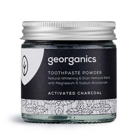Georganics Naturligt Tandblekningspulver Activated Charcoal, 60 ml