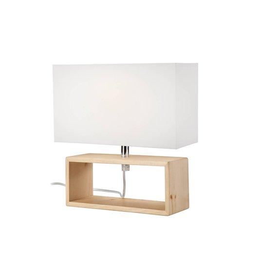 Bordlampe Faxa, kantform, naturlig/hvit