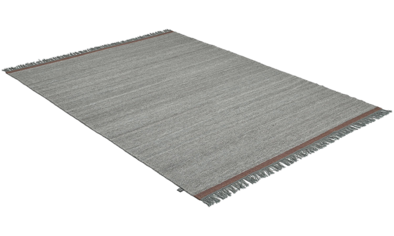 Sigyn grey - håndvevd ullteppe