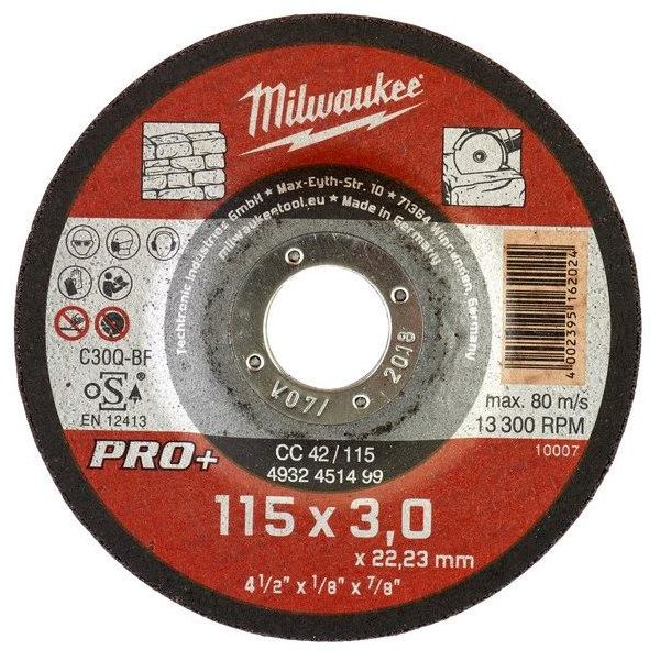 Milwaukee CC 42 PRO+ Katkaisulaikka 115x3 mm.
