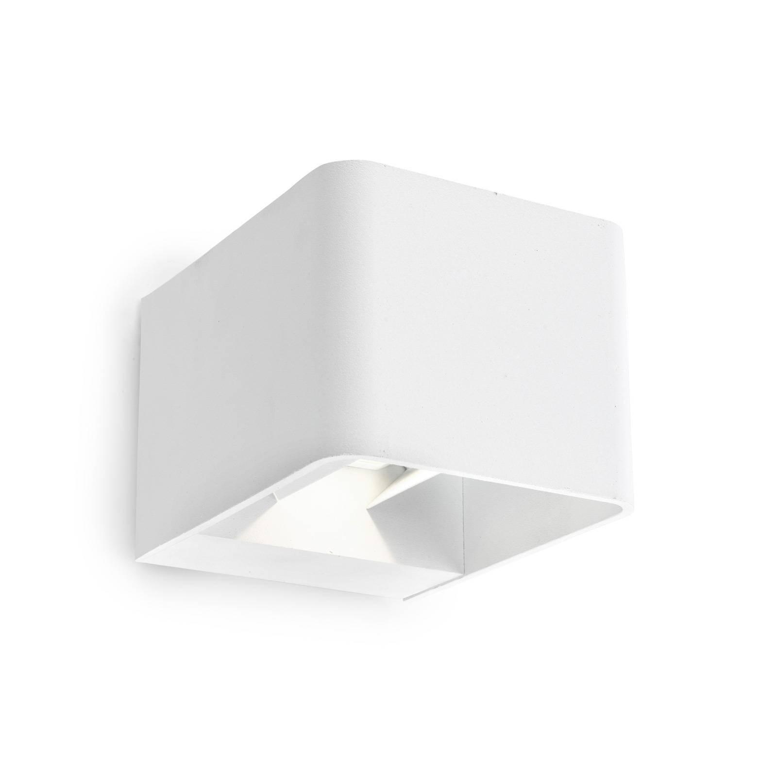 LEDS-C4 Wilson utendørs LED-vegglampe, 11 cm, hvit