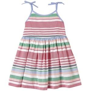 Ralph Lauren Multi Oxford Stripe Woven Klänning Rosa 12 år