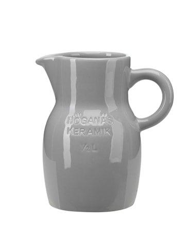 Höganäs Keramikk Kanne 0,5 L grå blank