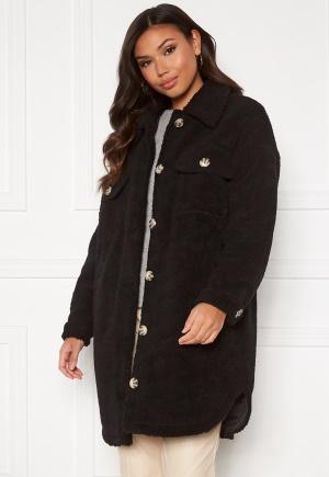 JDY Stella Teddy Shirt Jacket Black XS