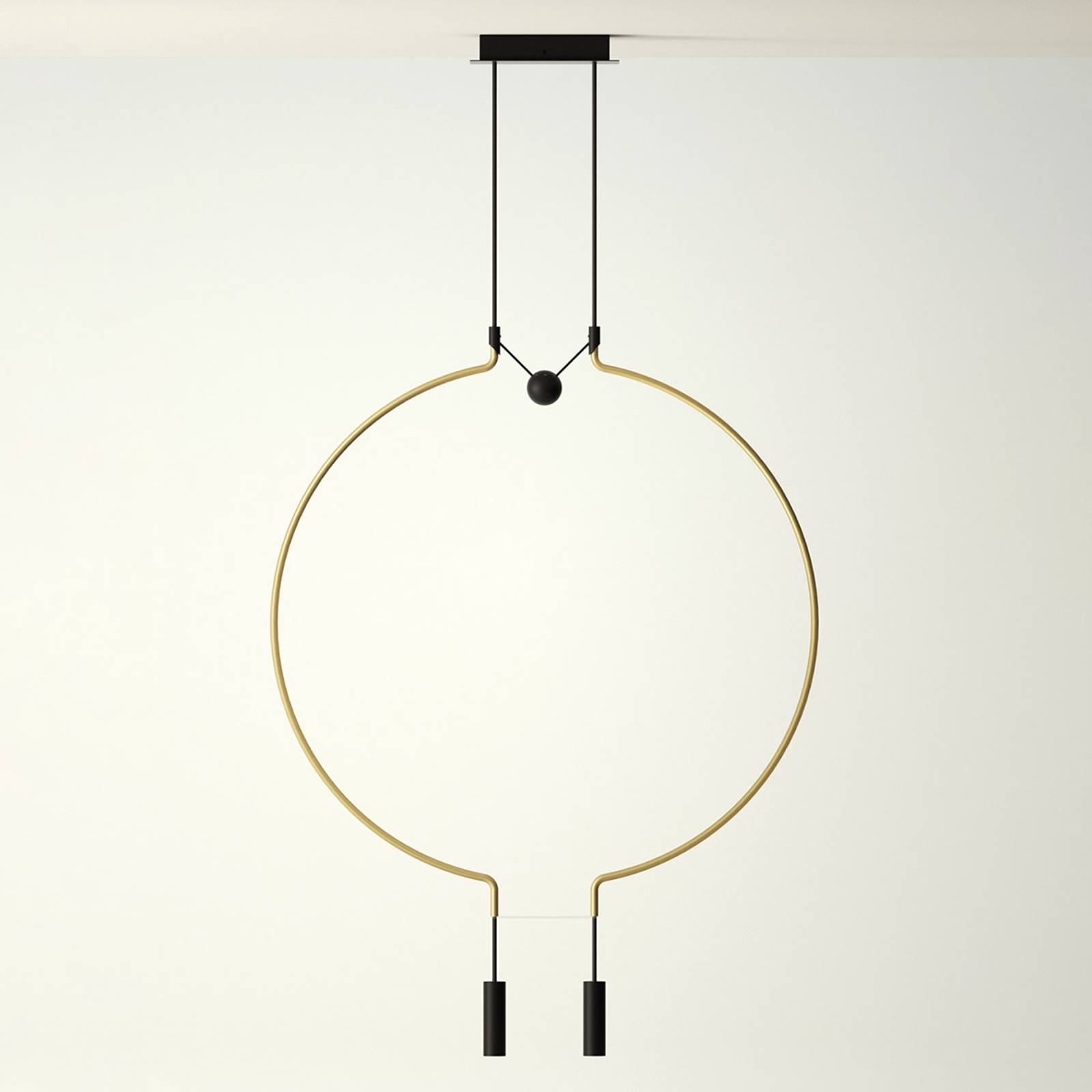 Axolight Liaison M2 riippulamppu kulta/musta 84 cm