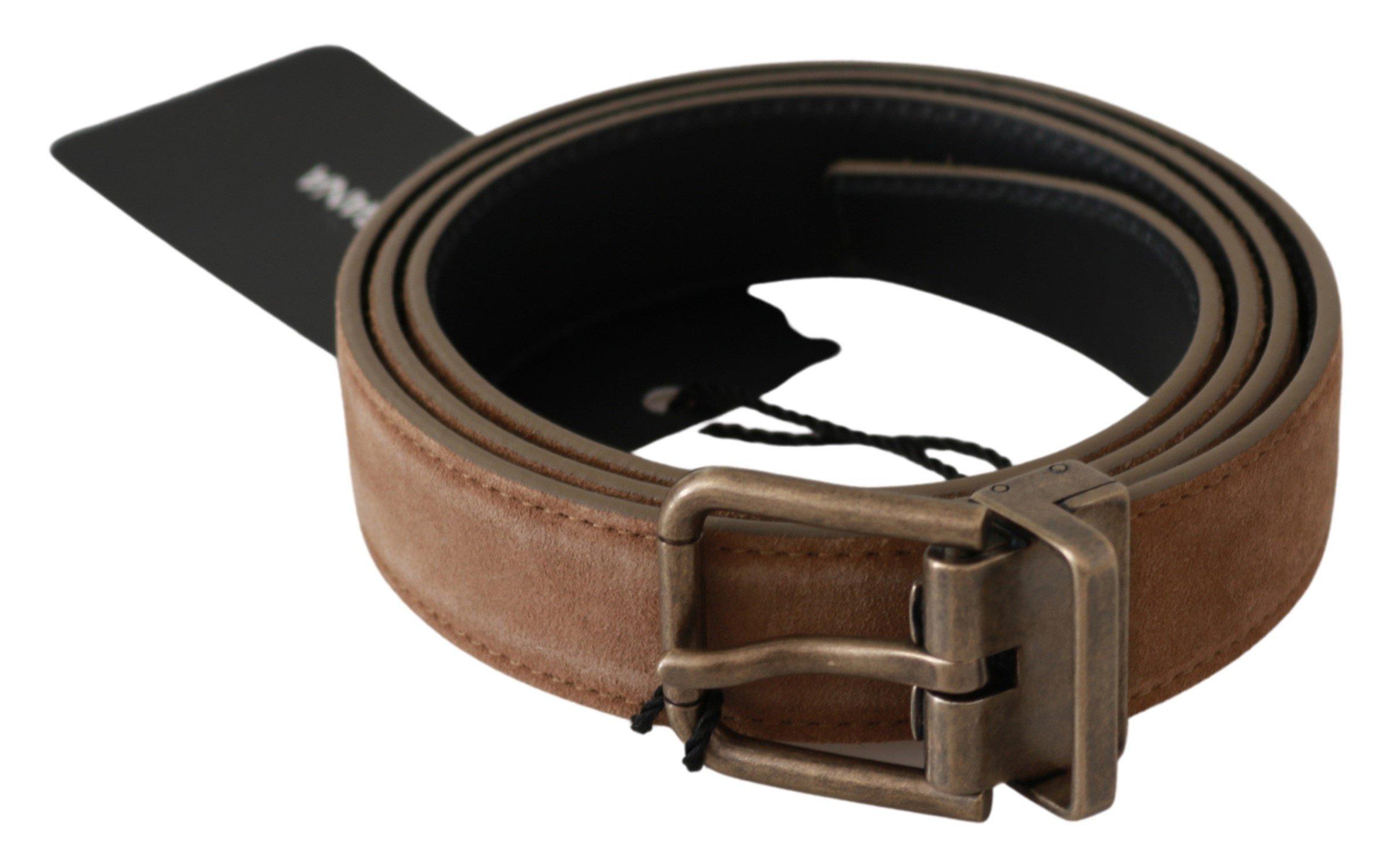 Dolce & Gabbana Men's Buckle Waist Leather Belt Brown BEL60614 - 90 cm / 36 Inches