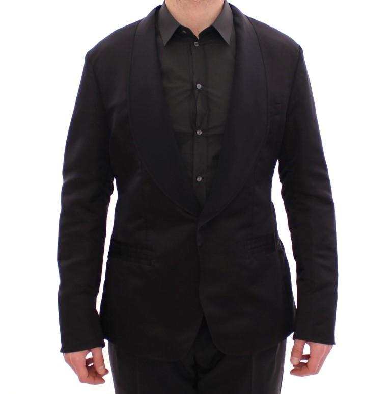 Dolce & Gabbana Men's Silk Slim Fit Blazer Black GSD10331 - IT54 | XXL
