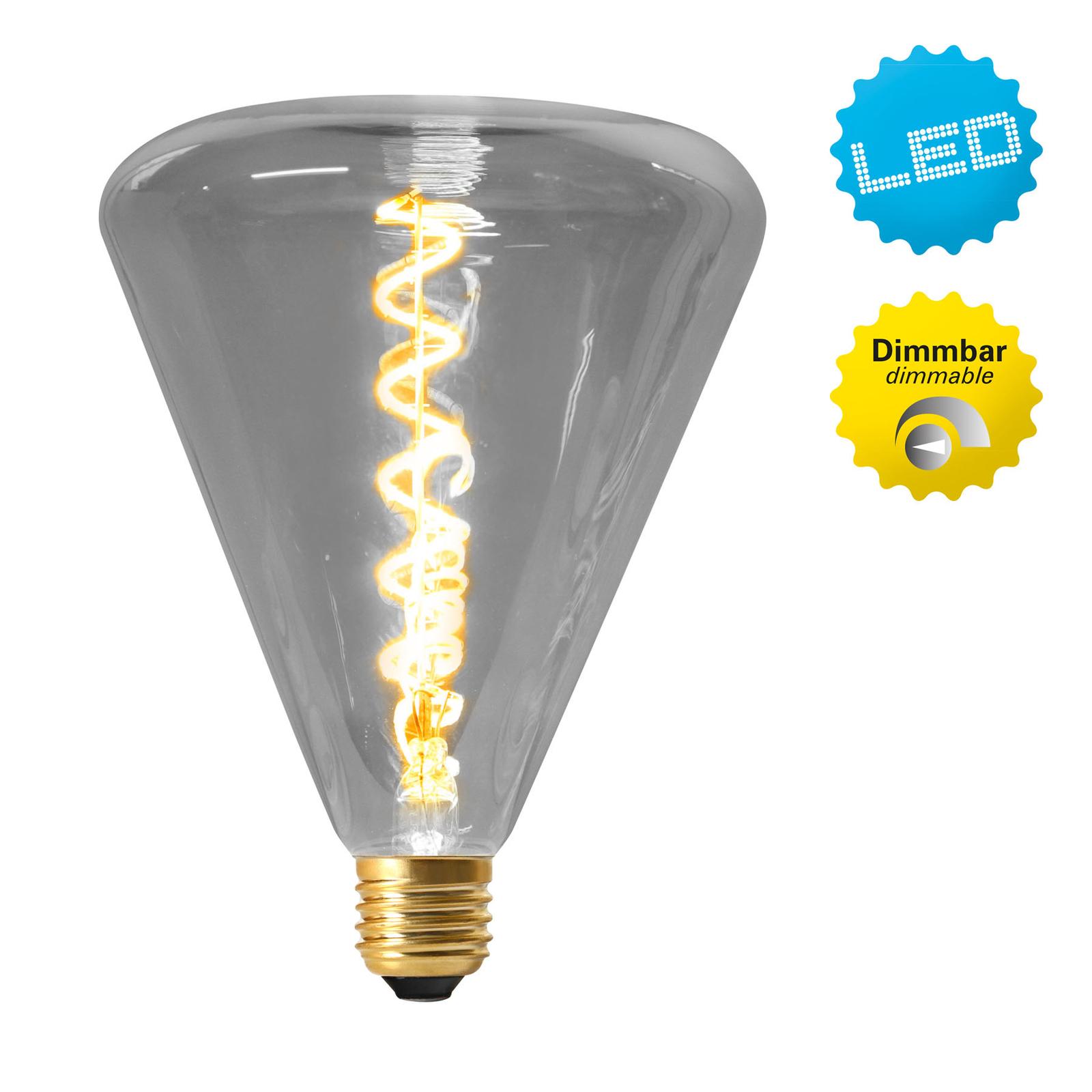LED-globe-lamppu E27 4W 2 200 K, harmaa sävy